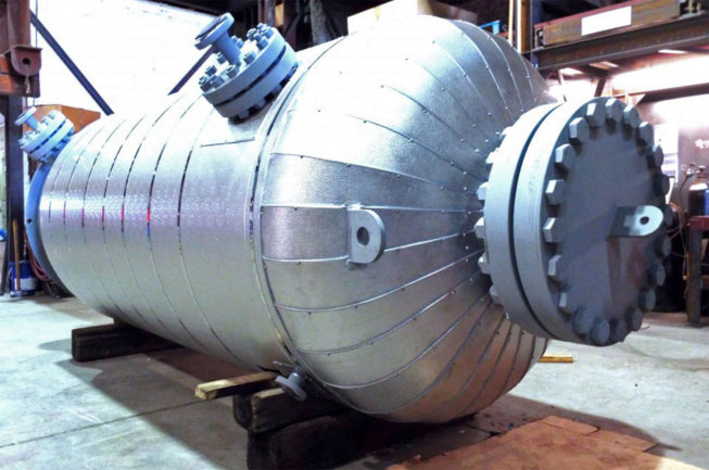 chromoly pressure tank fabricated by Enermax Mountain Manufacturing