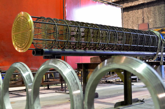 heat exchanger tube frame manufactured by Enermax Mountain Manufacturing
