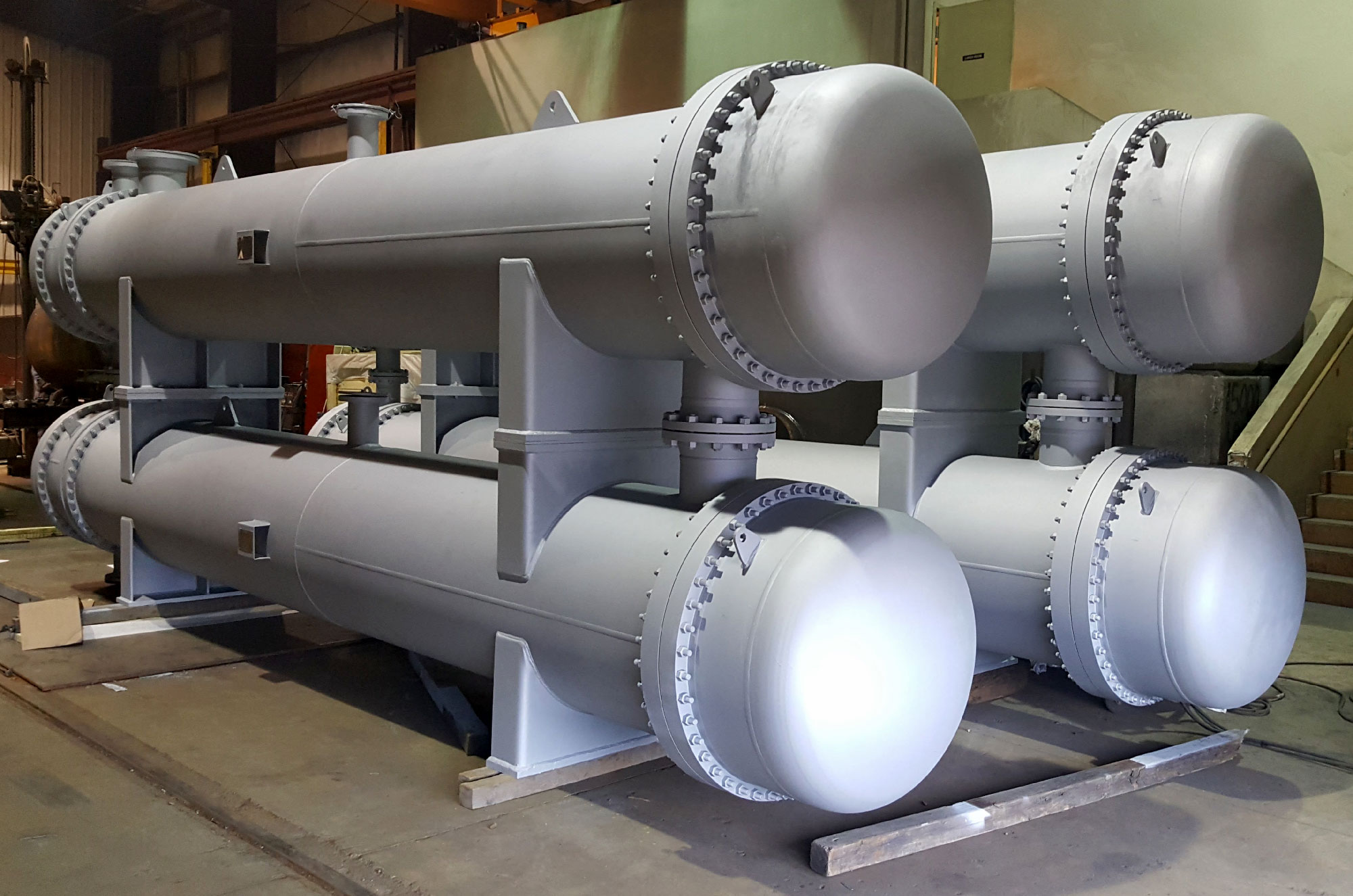 stacked heat exchangers manufactured by Enermax Mountain Manufacturing